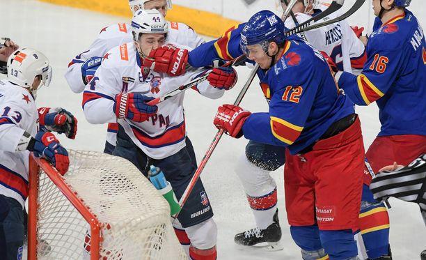 Jokerit-SKA oli totuttuun tapaan aggressiivinen vääntö kuten Marko Anttila osoitti.