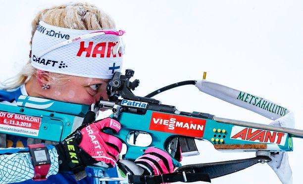 Kaisa Mäkäräinen oli torstaina Annecyn maailmancupin pikakilpailussa neljästoista.