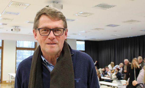 Matti Vanhanen puhui Jyväskylässä ulkopolitiikasta.