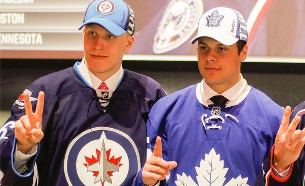 Patrik Laine ja Auston Matthews kohtaavat toisensa ensimmäistä kertaa NHL-kaukalossa.