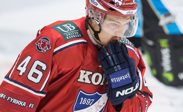 Teemu Ramstedtia ei nähdä tänään HIFK:n riveissä.