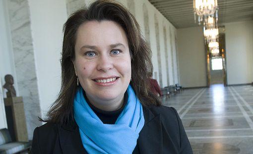 SDP:n eduskuntaryhmän vs. ryhmäjohtaja Johanna Ojala-Niemelä.