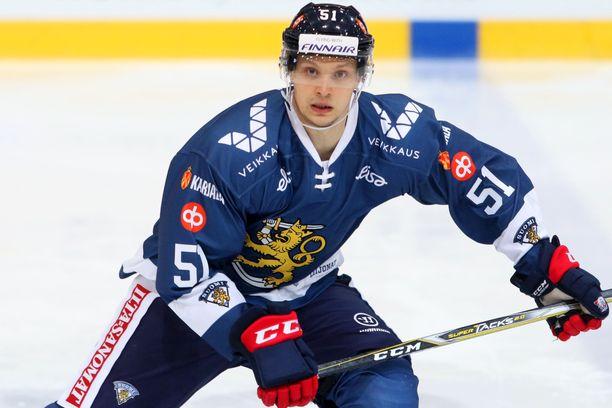 Kristian Näkyvä on pelannut Leijonissa 23 A-maaottelua.
