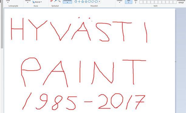 Microsoft ilmoitti, että Paint tulee tiensä päähän syksyn ohjelmistopäivityksen yhteydessä.