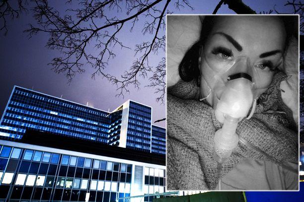 Sari Hämäläinen oli viikon Helsingin Meilahden sairaalassa.