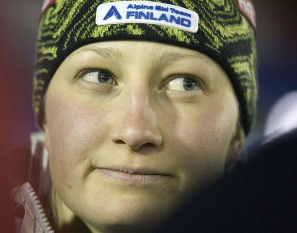 Tanja Poutiainen on viikonloppuna tulessa sekä suurpujottelussa että pujottelussa.