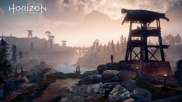 Horizon Zero Dawn -pelissä ohjataan Aloyta, joka yrittää selviytyä ihmiskunnan raunioissa robottihirviöitä vastaan.