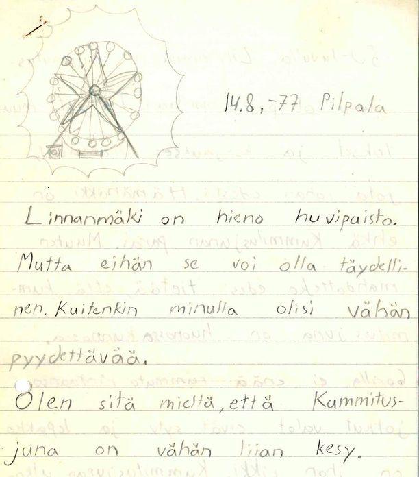 Petteri Aro kirjoitti kirjeensä vuonna 1977. Tänä vuonna se löytyi.