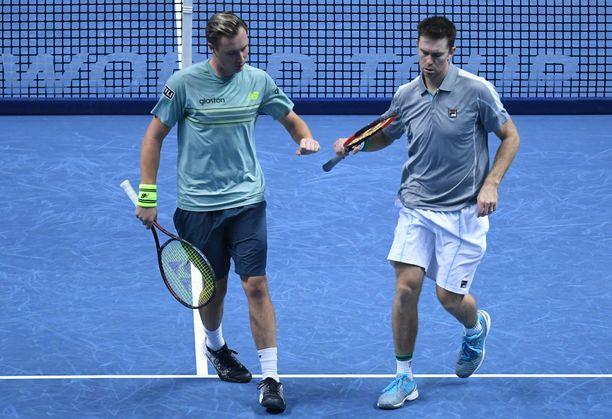 Henri Kontinen ja John Peers taistelevat toisesta Australian avointen mestaruudestaan.
