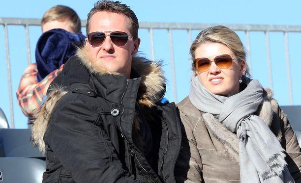 Michael ja Corinna Schumacher yhteiskuvassa vuonna 2013.