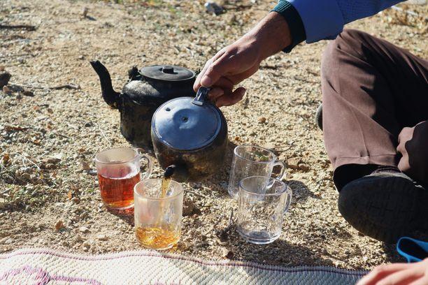 Sohvasurffareiden kautta järjestyi hieno Iran-kokemus, vierailu vuoristokylään. Siihen kuului muun muassa teehetki ylhäällä kukkuloilla.