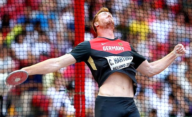Christoph Harting jäi lopulta kiekkofinaalin kahdeksanneksi.