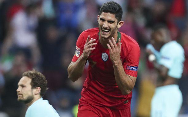 22-vuotias  Gonçalo Guedes ampui Portugalin voittomaalin Kansojen liigan loppuottelussa.