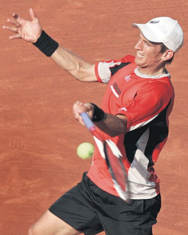 HAASTAJA Jarkko Nieminen oli lähellä uransa kovinta voittoa.