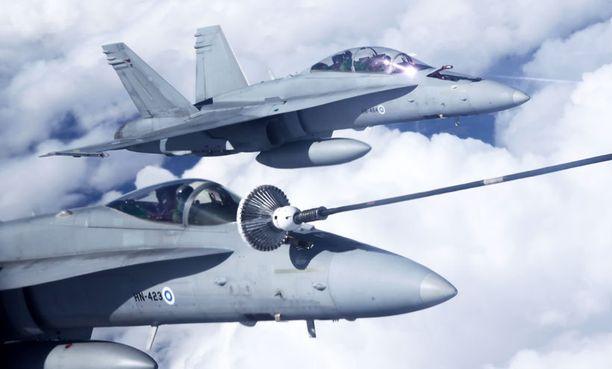 Suomesta harjoitukseen on määrä osallistua 2-4 Hornet-hävittäjää.