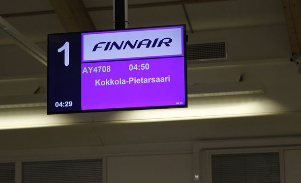 Kokkola-Pietarsaaren kentällä on myös reittiliikennettä. Arkistokuva.