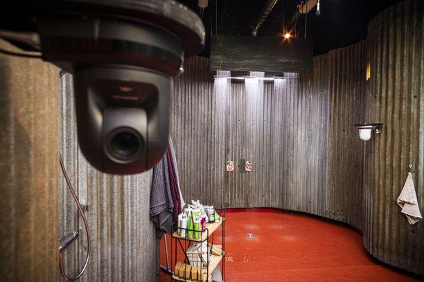 Kameroita on suihkutiloissakin.