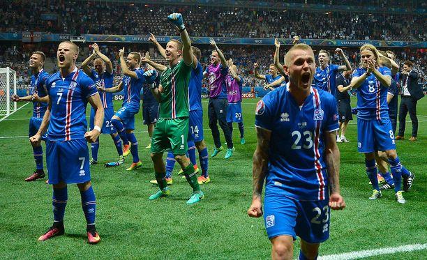 Islannin joukkue on ollut Ranskan EM-kisojen ylivoimainen sensaatio.