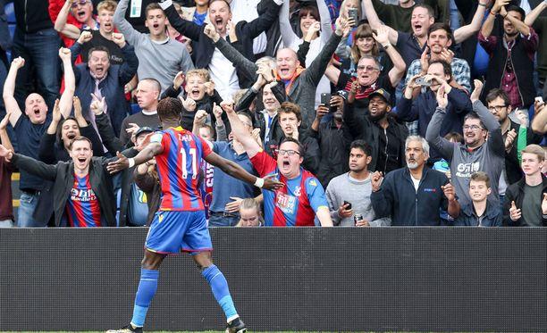 Wilfried Zaha oli ensimmäinen Crystal Palace -pelaaja, joka onnistui maalinteossa tällä valioliigakaudella.