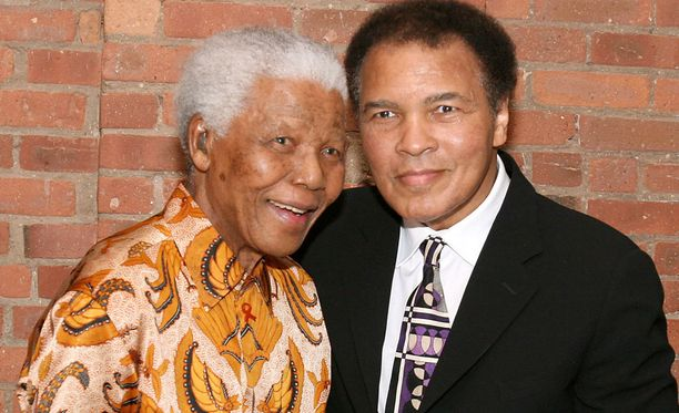 Nelson Mandela ja Muhammad Ali tapasivat vuonna 2005.