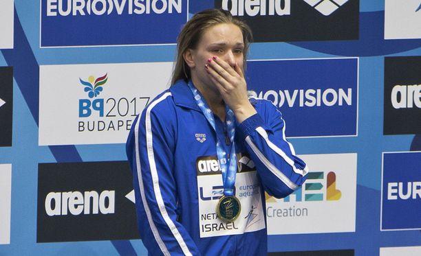 Jenna Laukkanen herkistyi lauantaina voitettuaan toisen EM-kultansa.