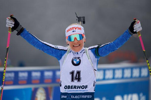 Kaisa Mäkäräinen on Suomen mitalitoivo MM-kisoissa.