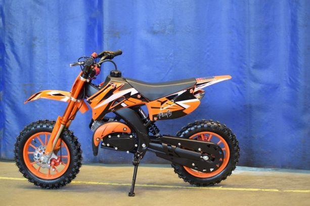 X-Pro Firefly Minidirtbike. Myyjä on poistanut mopon myynnistä ja tekee vapaaehtoisen takaisinvedon.