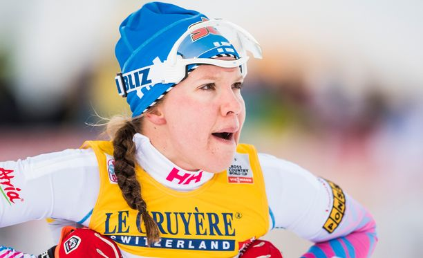 Kerttu Niskanen piti parasta vauhtia sprintin aika-ajossa.