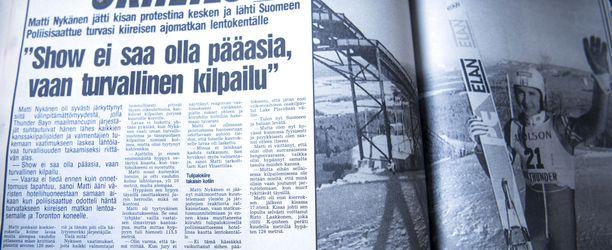 Iltalehti kertoi 5.12.1988, että Matti Nykänen oli lähtenyt kotimatkalle kesken maailmancupin viikonlopun.