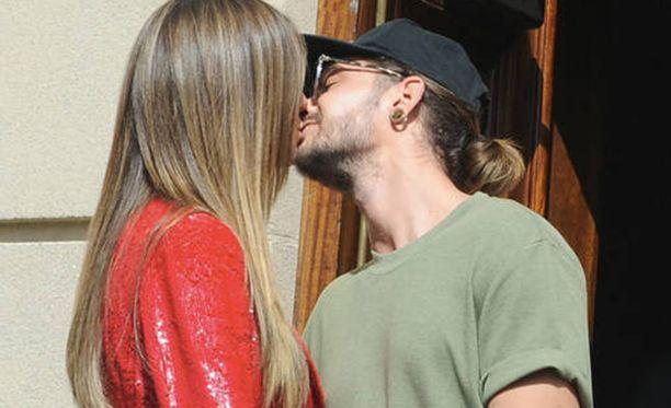 Heidi Klum ja Tom Kaulitzista vhvistivat suhdehuhut sunnuntaina.