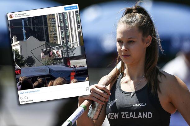 Lupaava seiväshyppääjä Olivia McTaggart, 19, kohtasi takaiskun ja joutuu pitämään taukoa täysipainotteisesta harjoittelusta.