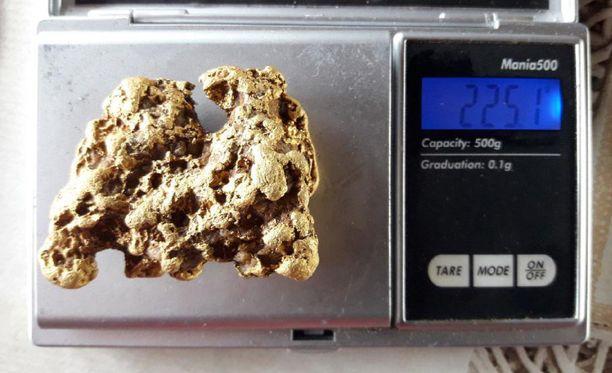 225 gramman kultahippu on Suomen kuudenneksi suurin.