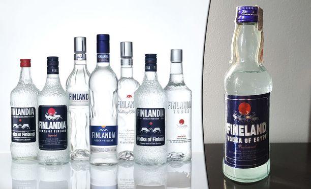 Finlandia vodkasta on tehty useita kopioita. Fineland, vodka of Egypt on niistä yksi.