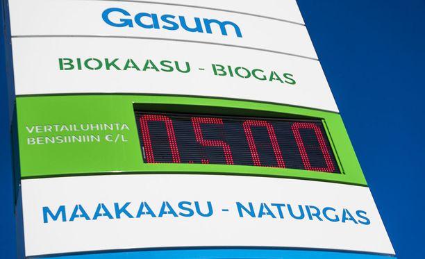 Biokaasua valmistetaan kotimaisesta biohajoavasta jätteestä.