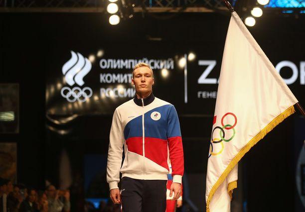 Verkkatakin kuosi on otettu suoraan Venäjän lipusta.