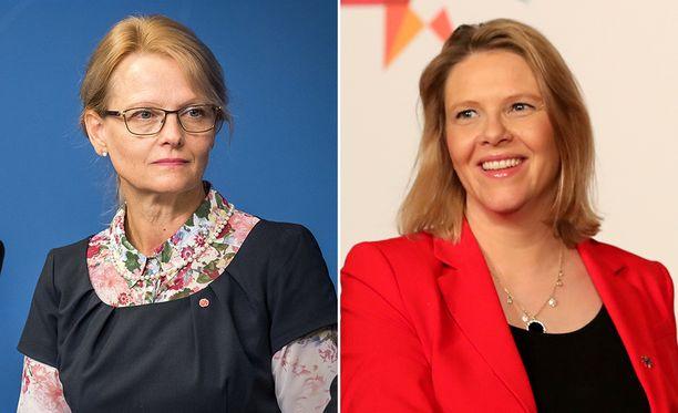 Heléne Fritzon ja Sylvi Listhaug ovat sanasodassa.