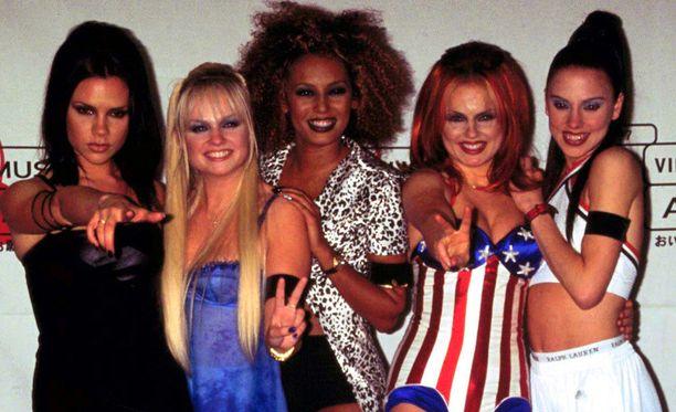 Spice Girls kuului vuosina 1994-2001 maailman suosituimpiin yhtyeisiin. Vasemmalta oikealle: Victoria Beckham, Emma Bunton, Mel B, Geri Halliwell ja Mel C.