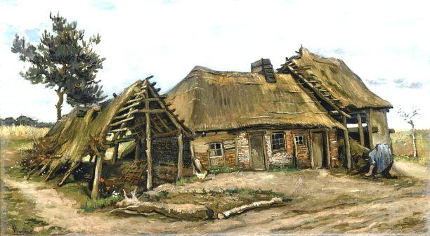 Vincent van Gogh maalasi taulun naisesta maalaistalon edessä vuonna 1885.