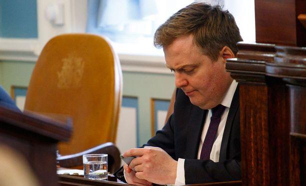 Pääministeri Sigmundur David Gunnlaugsson on joutunut ahtaalle Panama-papereiden vuoksi.