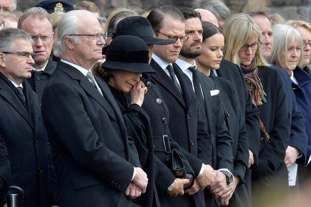 Kuningatar Silvialle tilaisuus oli kova paikka.