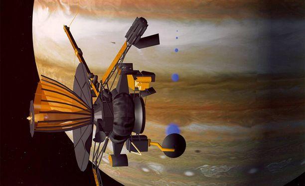 Galileo kiertämässä Jupiteria, Nasan piirroskuva.