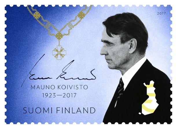Tältä Koivisto-postimerkki näyttää.