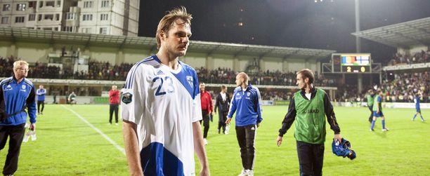 Markus Heikkisen olemus kertoo, miten EM-karsinta alkoi Chisinaussa 2010.