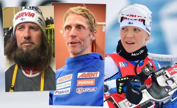 Danielo Müller, Jonne Kähkönen ja Kaisa Mäkäräinen.