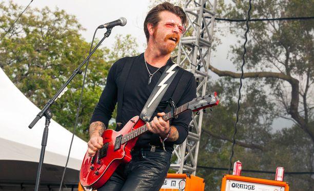 Eagles of Death Metalin toinen perustajajäsen Jesse Hughes oli soittamassa Bataclanissa kohtalokkaalla keikalla. Kuva syyskuulta 2015.