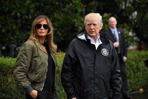 Presidenttiparin virkakauteen on ehtinyt osua kohdalle myös luonnonkatastrofeja kuten Texasin hirmumyrskyt elokuussa 2017.