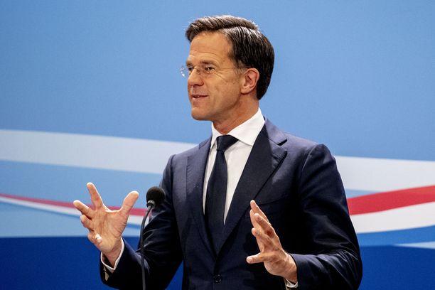 Hollannin pääministeri Mark Rutte kärsi itsensä asettamasta koronarajoituksesta.