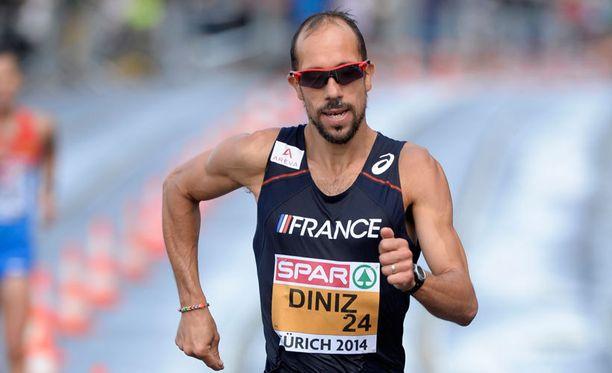 Yohann Diniz käveli uuden maailman ennätyksen 50 kilometrilla.