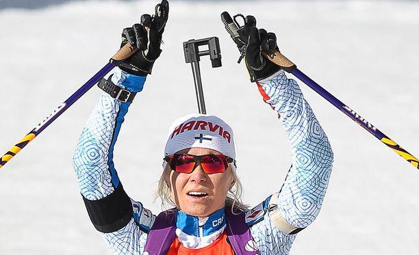Mari Laukkanen kilpaili viikonloppuna Oslossa valtavan tunnemyrskyn pyörteissä.