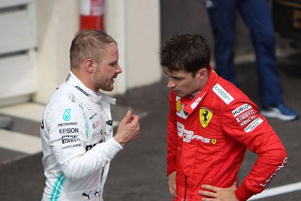 Valtteri Bottas ja Charles Leclerc pääsivät palkintokorokkelle Ranskan GP:ssä.